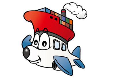 $ポテ子のベビ待ち→ベビ来た絵日記-キャラクター 飛行機 船