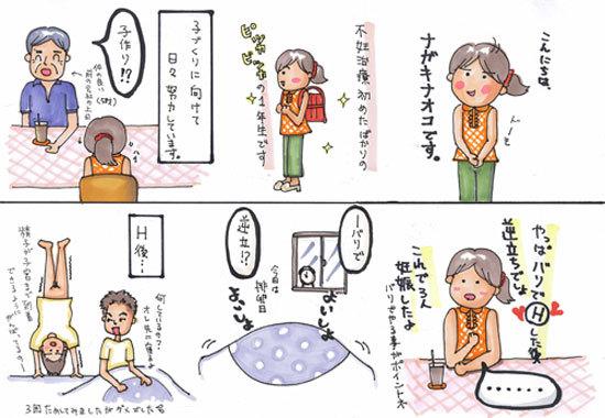 $「イラストレーター赤星ポテ子」の絵日記ブログ-妊活 コミックエッセイ