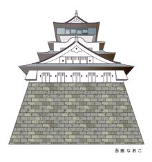 赤星ポテ子★イラストレーターのブログ-小倉城